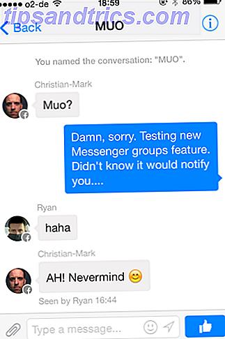 Actualizaciones de Facebook Messenger con creación de grupos y reenvío de mensajes