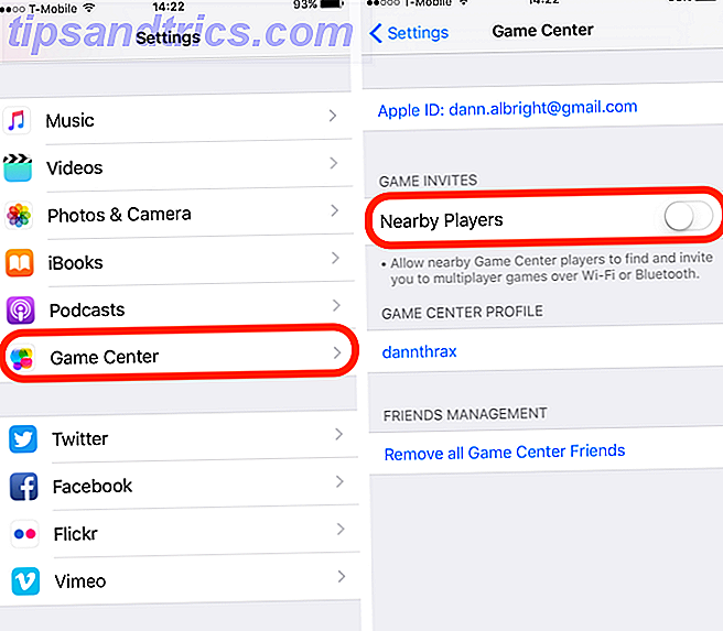 iOS 10 Feature Game Center à proximité