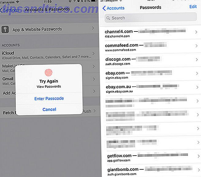 Endre passord mail iphone