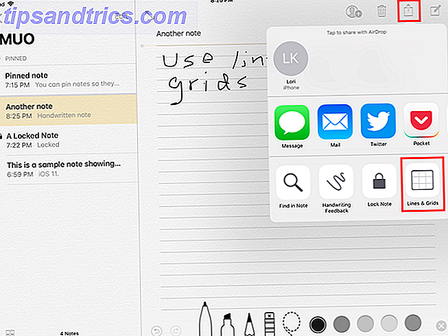 lignes grilles notes ios 11