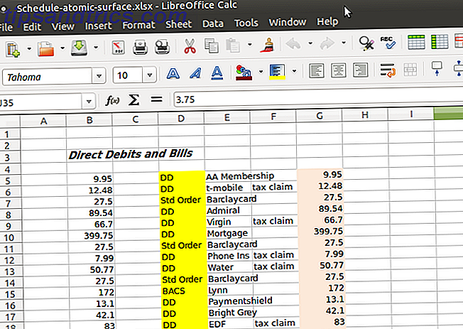 linux excel libreoffice calc