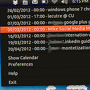 Indicateur de calendrier: Voir votre calendrier Google dans le plateau d'Ubuntu [Linux]