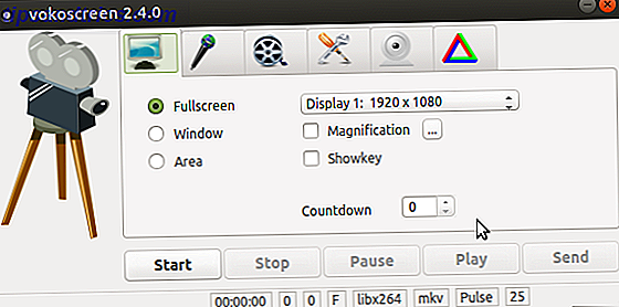 muo linux screenrecording vokoscreen
