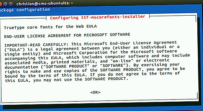 Cómo instalar fuentes de texto de Microsoft en Ubuntu Linux