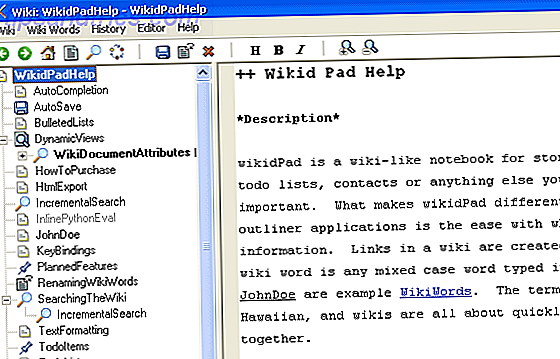 wikipad - wiki software linux mac windows
