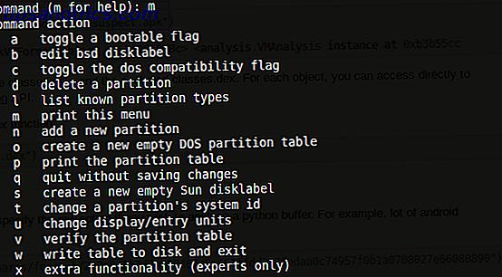 Embora as ferramentas de gerenciamento de disco de desktop também estejam disponíveis para distros do Linux (como o Utilitário de Disco no Ubuntu), o uso da ferramenta de linha de comando fdisk oferece mais opções.