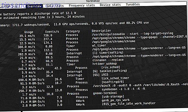 Σε φορητούς υπολογιστές Linux, ένα από τα πιο συνηθισμένα παράπονα είναι ότι η διάρκεια ζωής της μπαταρίας δεν είναι τόσο μεγάλη.  Μπορείτε να μάθετε ποιες ρυθμίσεις είναι οι καλύτερες για το σύστημά σας χρησιμοποιώντας το PowerTOP.