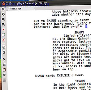Vous voulez apprendre l'art d'écrire un scénario?  Découvrez Trelby, logiciel d'écriture open source que vous pouvez essayer maintenant si vous êtes un utilisateur Linux ou Windows.