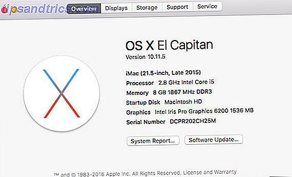 Du kanske känner till din allmänna Mac-modell, men ibland behöver du veta vad som är faktiskt inuti din maskin.  Så här hittar du de här specifikationerna inom en minut.