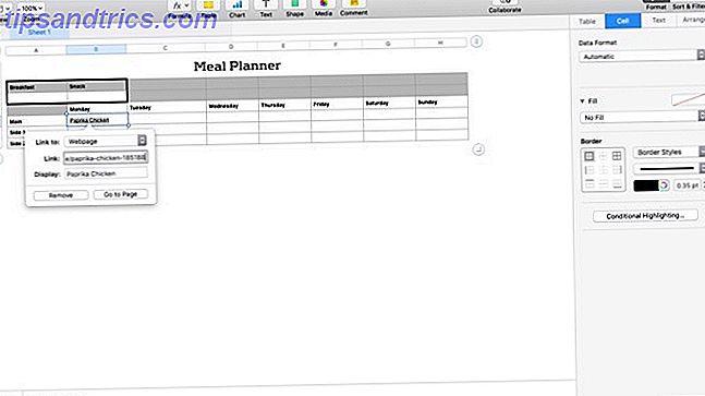 Les nouveaux Mac viennent avec Numbers, un tableur qui est parfait pour vous aider à s'organiser.
