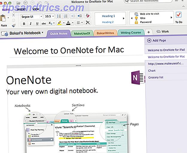 Même si vous êtes un utilisateur inexpérimenté de Mac ou d'iOS, vous pouvez toujours trouver l'élégant Microsoft OneNote pour Mac, iPad et iPhone une option valable pour capturer des notes et créer des conceptions de page.