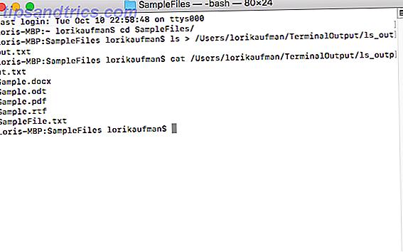 Det er nyttigt at gemme output fra en kommando til en fil, hvis du forsøger at diagnosticere et problem, og det er super nemt at gøre.