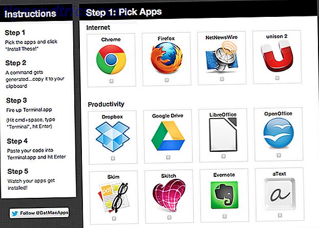 Ställer du in en ny Mac?  Hämta och installera dina favoritappar på en gång.  GetMacApps.com gör det enkelt.