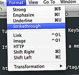 Comment créer un raccourci clavier pour n'importe quel élément de menu Mac