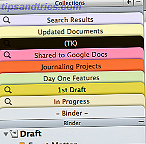 Collections de Scrivener