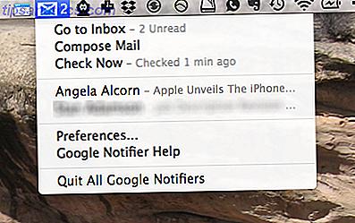Überwachen Sie Ihre Google E-Mail und Ihren Kalender über die Mac-Menüleiste.  Google Notifier für Mac bietet Ihnen einen Überblick über eingehende Nachrichten und bevorstehende Termine und benachrichtigt Sie über beides.