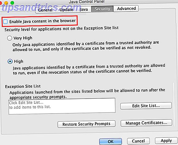 Deaktiver Java på Mac OS X for et sikkert system