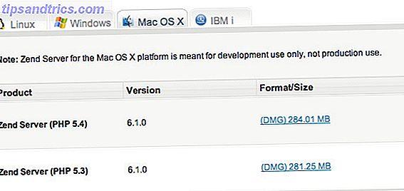 Exécuter un serveur Web local PHP sur Mac OS X avec Zend Server