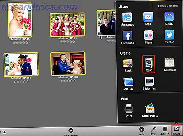 Erinnerung: Sie können mit iPhoto Grußkarten erstellen