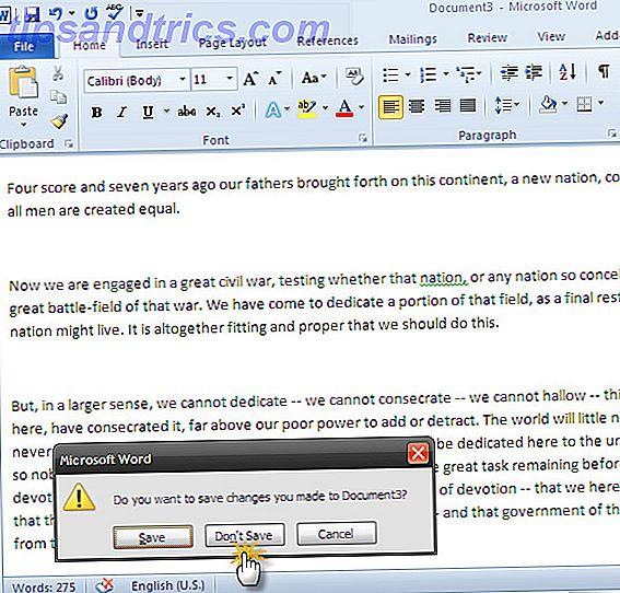 Har et Windows-crash eller strømfejl nix et Microsoft Office-dokument, du arbejdede på?  Måske lukkede du et ubesvaret dokument ved et uheld.  Vi viser dig, hvordan du genopretter udkastet og gendanner dit arbejde.