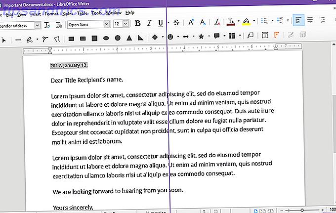 LibreOffice a besoin de quelques ajustements dès la sortie de la boîte, y compris le fait que son rendu de texte est assez moche jusqu'à ce que vous changiez un de ses paramètres.