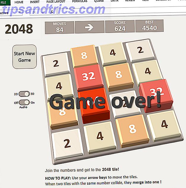 6 jeux emblématiques recréés dans Microsoft Excel