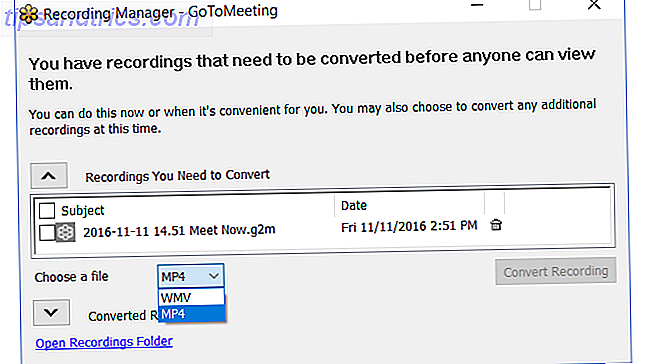 GoToMeeting - Enregistrement Convertir un fichier