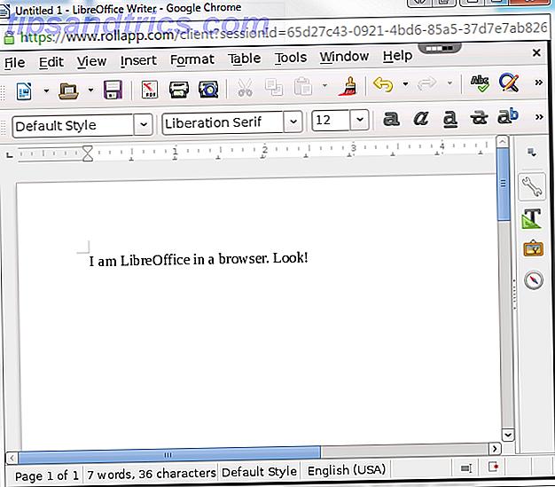 Τρόπος εκτέλεσης του LibreOffice στον περιηγητή σας στο Web