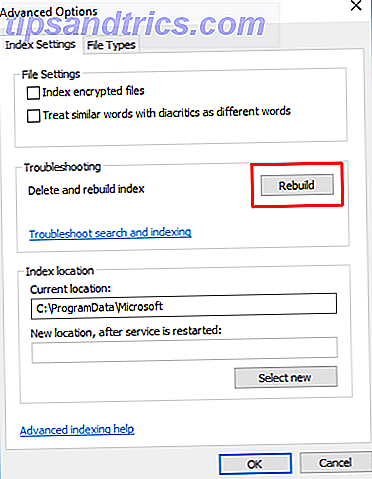 fix outlook search werkt niet