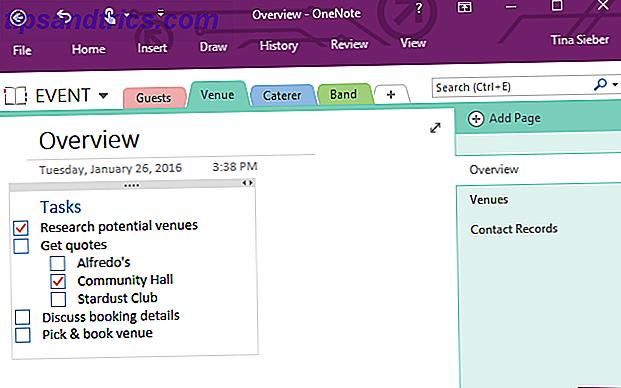 Wie Verwenden von Microsoft OneNote für Project Management