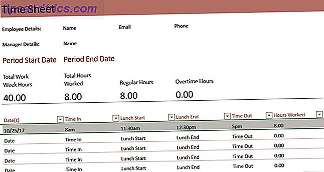 Avez-vous besoin d'un modèle de feuille de temps pour Excel ou Word?  Nous avons compilé une sélection de différents modèles pour vous aider à suivre vos heures.