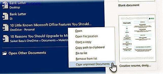 Como limpar o histórico de documentos recentes no Microsoft Word