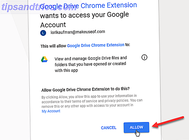 Click Allow for Google account