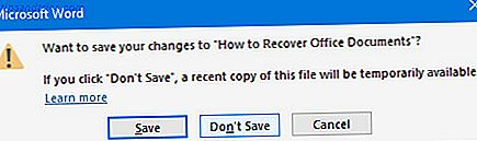 Sådan genopretter du slettede Office-filer