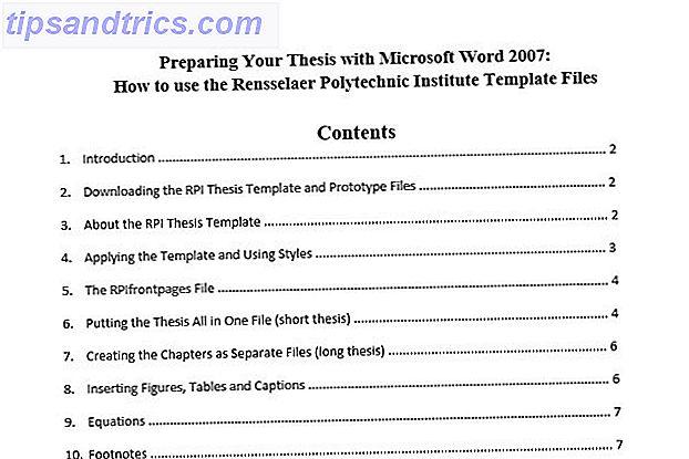 10 meilleurs modèles de table des matières pour Microsoft Word