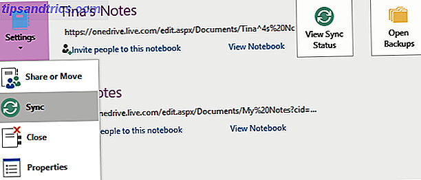 Notes de synchronisation OneNote