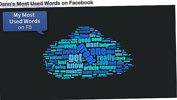 Si vous êtes comme des milliers d'autres personnes, vous venez de donner une tonne d'informations personnelles, pour un graphique qui montre vos mots les plus utilisés sur Facebook.  Pas vraiment un grand commerce, n'est-ce pas?