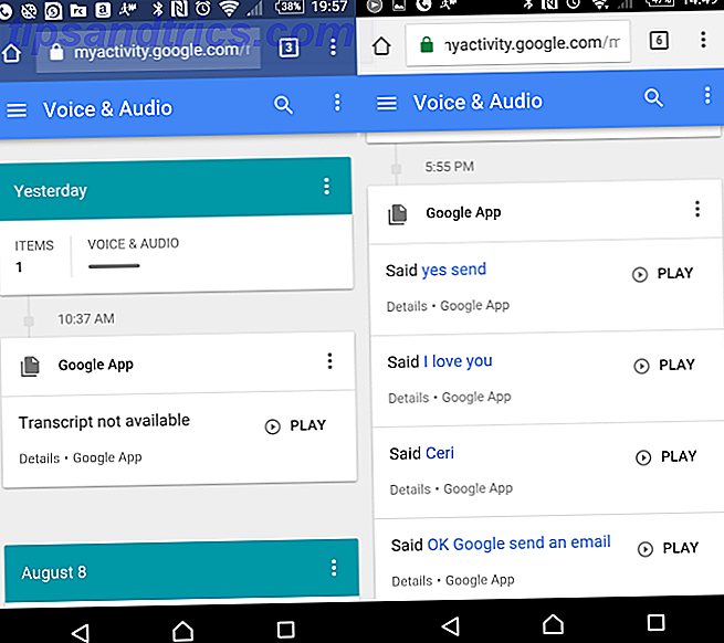 OK Google History of Audio Voice Commands