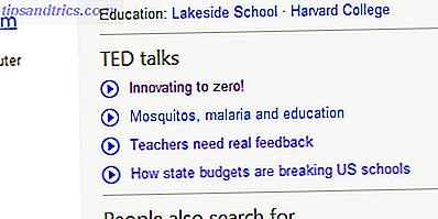 Bing fügt TED Talks zu den Suchergebnissen hinzu