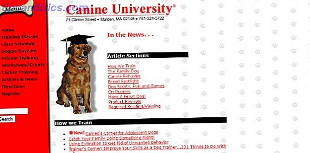 site de l'université canine
