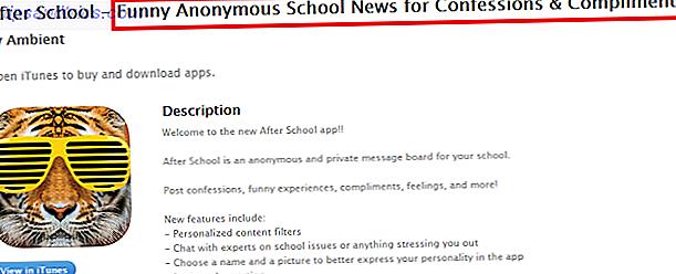 Siniestramente, el eslogan de la aplicación After School dice que proporciona noticias divertidas y anónimas de la escuela sobre confesiones y elogios.  Eso solo debería ser suficiente para hacer sonar las campanas de alarma de los padres.