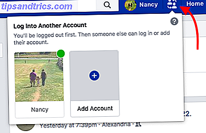 Comment basculer rapidement entre les profils Facebook sur un ordinateur Facebook Switch Accounts 1