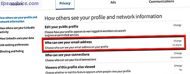 Du kan endre hvem som kan se din e-postadresse på LinkedIn-profilen din og kontrollere personvernet ditt.