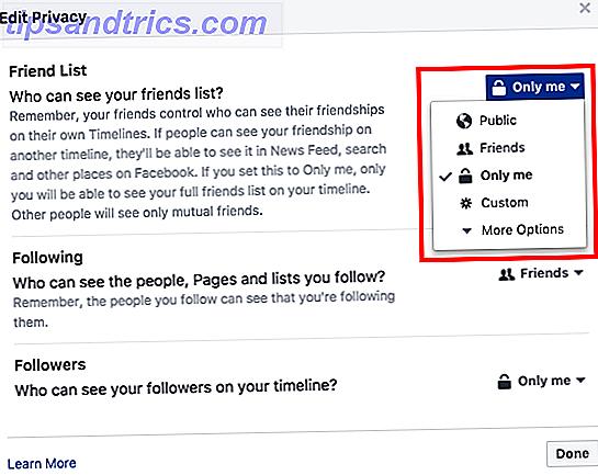 Si vous vous intéressez à vos paramètres de confidentialité Facebook, vous pouvez obtenir un contrôle total sur presque chaque partie de votre profil, y compris sur les personnes qui peuvent voir votre liste d'amis.