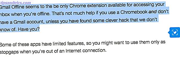 Au lieu de partager des URL sur Twitter, cette extension Chrome facilite le tweet des extraits et des extraits d'articles sans effort.