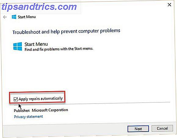 Le menu Démarrer a sa part de bugs et de pépins, mais Microsoft a un outil de dépannage dédié Menu Démarrer qui peut automatiquement résoudre tous les problèmes du menu Démarrer.