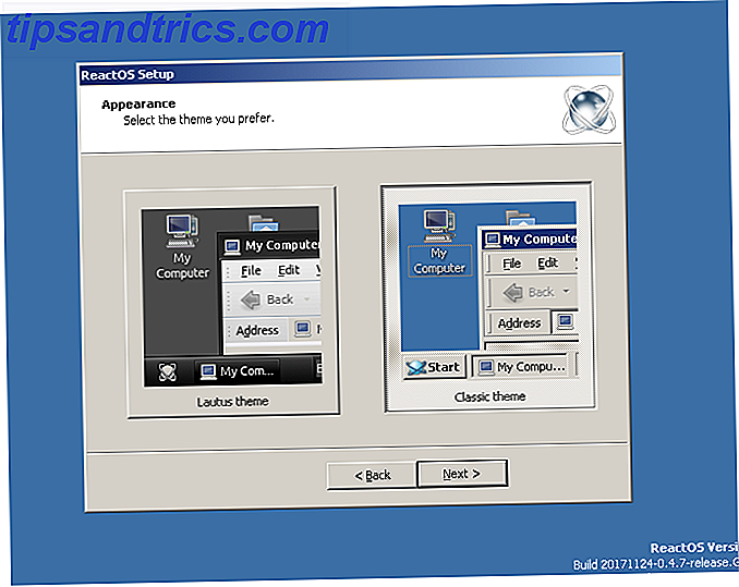 reactos review setupwizard7 Thema