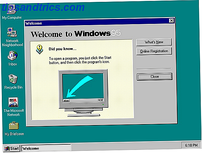 Windows 95-skrivbordet