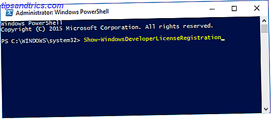 powershell dev licence