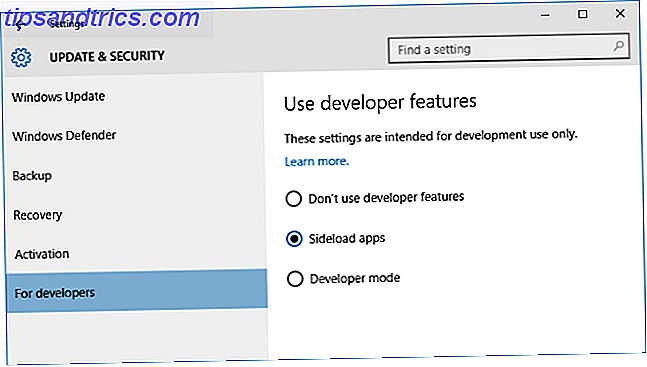 Windows 10 applications sideload